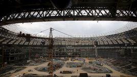 Июль 2015 года. Реконструкция стадиона