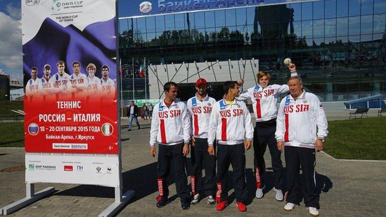 После матча с Испанией во Владивостоке сборная России сыграла с Италией в Иркутске. Фото daviscup.com