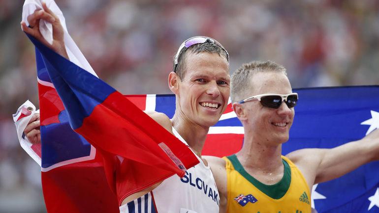 Матей ТОТ (слева) и Джаред ТЭЛЛЕНТ после успеха на чемпионате мира-2015 нелицеприятно высказывались о российских ходоках. Фото REUTERS