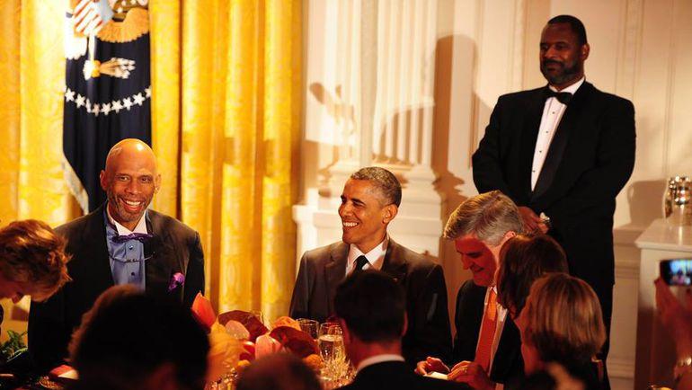 Карим АБДУЛ-ДЖАББАР и президент США Барак ОБАМА. Фото Facebook.com