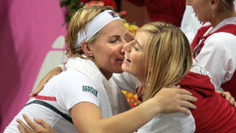 Светлана КУЗНЕЦОВА и Мария ШАРАПОВА. Фото REUTERS