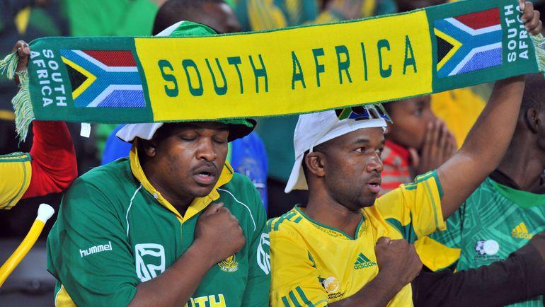 Болельщики сборной ЮАР. Фото AFP
