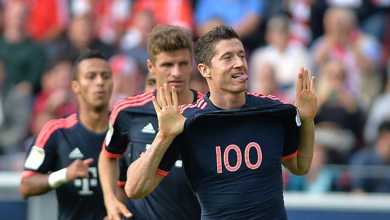 """Суббота. Майнц. """"Майнц"""" - """"Бавария"""" - 0:3. Роберт ЛЕВАНДОВСКИ: после 100-го гола в бундеслиге последовал 101-й. Фото AFP"""