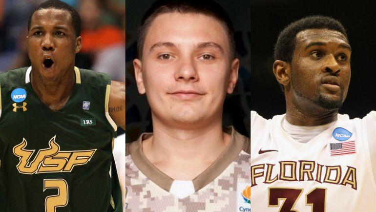 Слева направо: Виктор РАДД, Денис ЛУКАШОВ и Крис СИНГЛТОН. Фото AFP