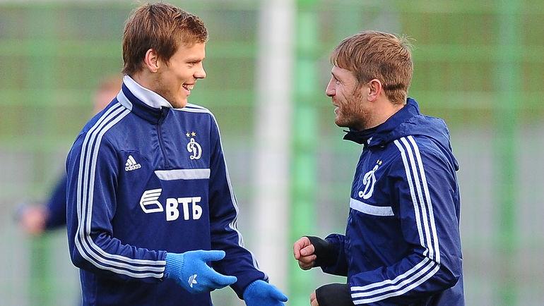 Октябрь 2013 года. Андрей ВОРОНИН (справа) и Александр КОКОРИН. Фото Антон СЕРГИЕНКО