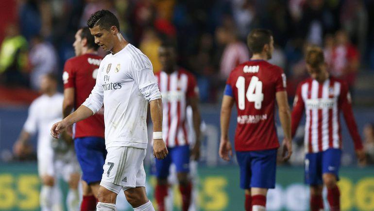 """Воскресенье. Мадрид. """"Атлетико"""" – """"Реал"""" – 1:1. КРИШТИАНУ РОНАЛДУ не смог принести победу своей команде. Фото REUTERS"""