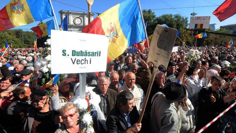 Октябрь. Акции протеста на улицах Кишинева. Фото Андрей Малиновский/ТАСС