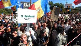 Октябрь. Акции протеста на улицах Кишинева.