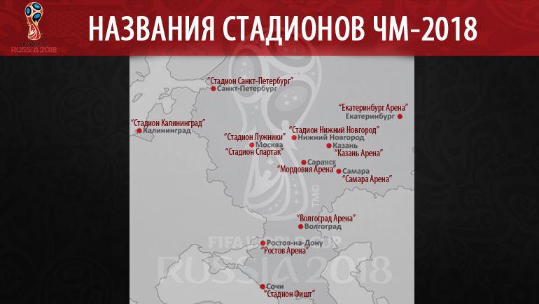 Названия стадионов ЧМ-2018. Фото «СЭ»