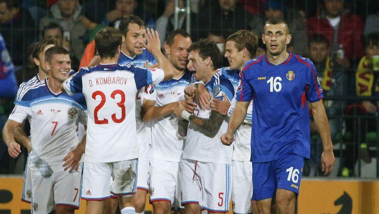 Вчера. Кишинев. Молдавия - Россия - 1:2. Команда Леонида Слуцкого сделала еще один шаг к Франции. Фото Reuters