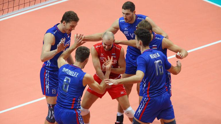 Сегодня. Бусто-Арсицио. Словакия - Россия - 0:3. Россияне добились победы без особых проблем. Фото cev.lu
