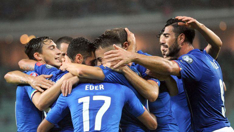 Италия едет во Францию. Фото AFP