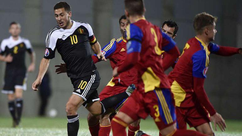 В сборной Андорры нашлось немало желающих получить майку Эдена АЗАРА. Фото AFP