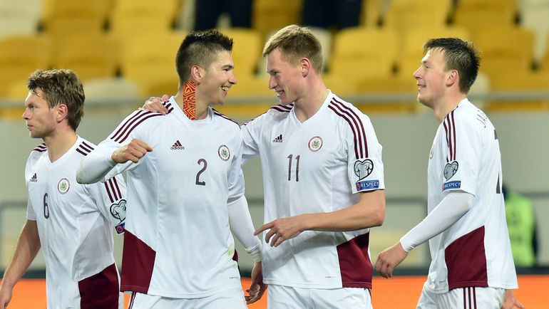 Игрокам сборной Латвии придется побороться, чтобы не оказаться на последнем месте в таблице. Фото AFP