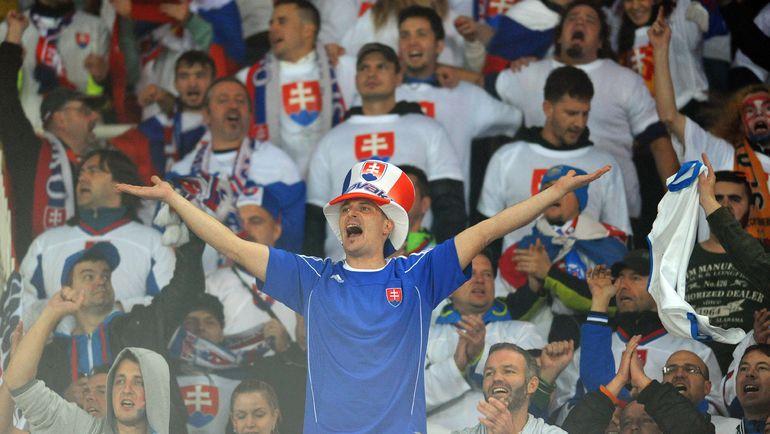 Словацкие болельщики рады выходу команды на Euro. Фото REUTERS