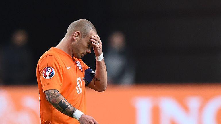 Понедельник. Амстердам. Голландия - Чехия - 2:3. Весли СНАЙДЕР. Фото REUTERS