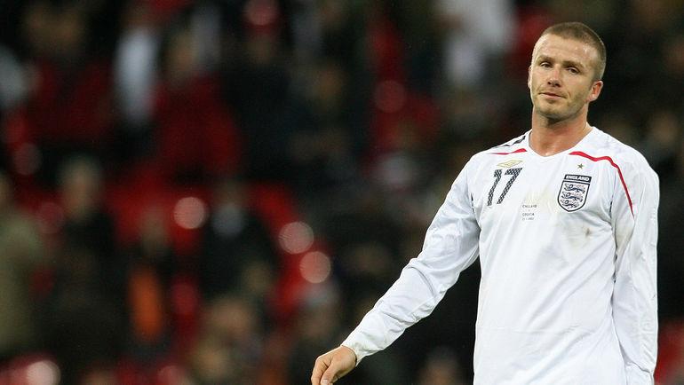 21 ноября 2007 года. Лондон. Англия - Хорватия - 2:3. Дэвид БЕКХЭМ опечален невыходом своей сборной на Euro-2008. Фото AFP