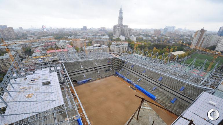 Строительство стадиона ЦСКА.
