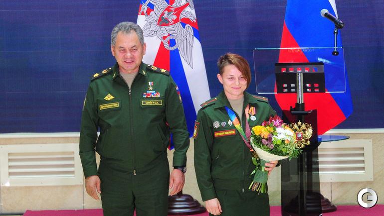 Награждение победителей VI Всемирных летних военных игр в Корее.