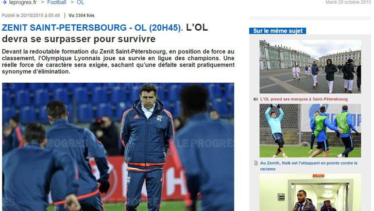 """""""Чтобы выжить """"Лион"""" должен превзойти себя"""". Фото leprogres.fr"""