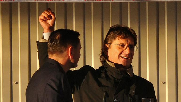 "Леонид ФЕДУН (справа) и Дмитрий АЛЕНИЧЕВ. Фото Александр ФЕДОРОВ, ""СЭ"""