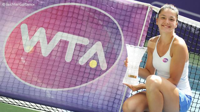 Летом Маргарита ГАСПАРЯН завоевала в Баку свой дебютный титул. Фото wtatennis.com