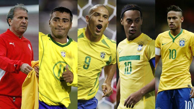 """Зико, Неймара, Роналдо, Роналдинью и Неймара в разное время называли """"вторыми Пеле"""". Фото """"СЭ"""""""