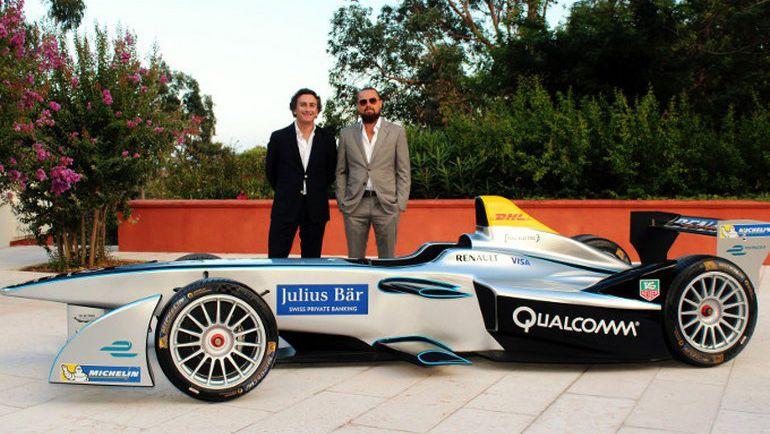 """Леонардо ДИ КАПРИО (справа) будет продвигать бренд """"Формулы Е"""". Фото www.fiaformulae.com"""