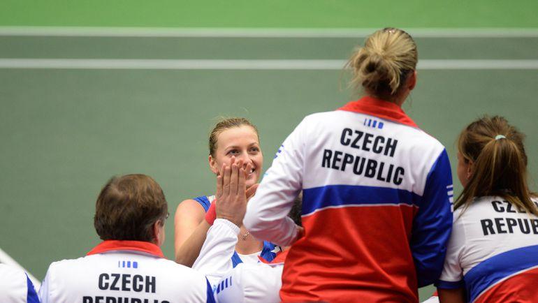 В домашнем финале Кубка федерации сборная Чехии, по мнению Елены Весниной, сделает ставку на две одиночки Петры КВИТОВОЙ. Фото AFP