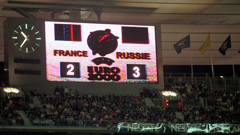 """5 июня 1999 года. Париж. Отборочный матч Euro-2000. Франция - Россия - 2:3. Счет, который сделал счастливой всю страну. Фото """"СЭ"""""""