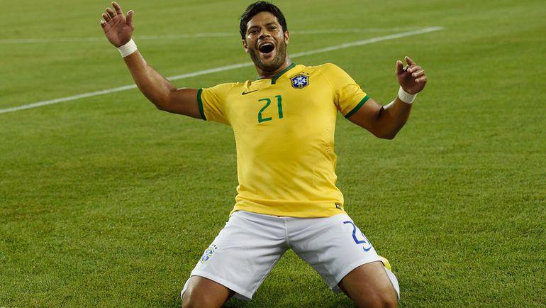 "Нападающий сборной Бразилии и ""Зенита"" ХАЛК. Фото REUTERS"