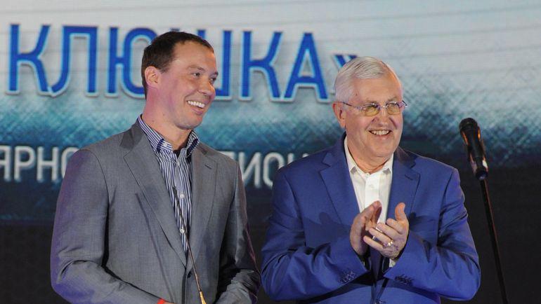 Сергей МОЗЯКИН и Борис МИХАЙЛОВ. Фото photo.khl.ru