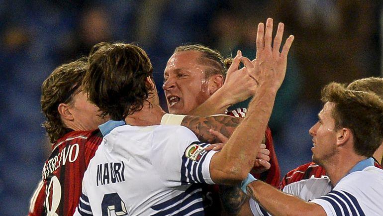 """""""Лацио"""" и """"Милан"""" сойдутся в Риме. Фото AFP"""