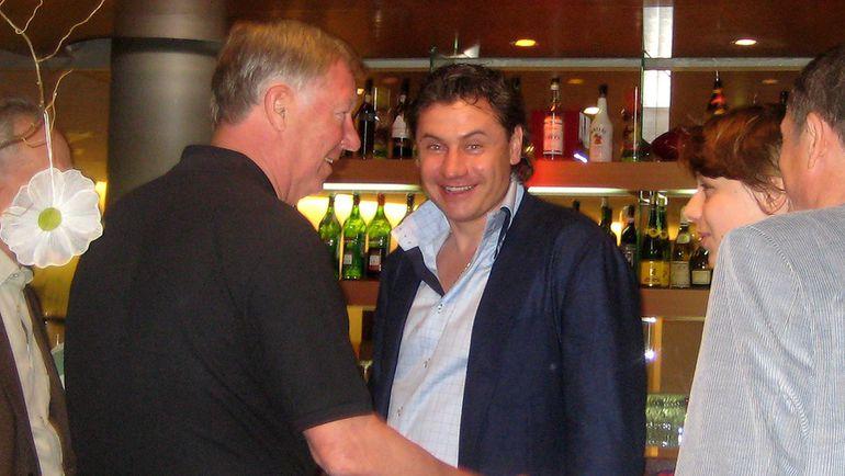 20 мая 2008 года. Алекс ФЕРГЮСОН (слева) и Андрей КАНЧЕЛЬСКИС перед финалом Лиги чемпионов в Москве. Фото Григорий ТЕЛИНГАТЕР