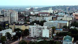 Вид на Ростов-на-Дону с высоты птичьего полета.