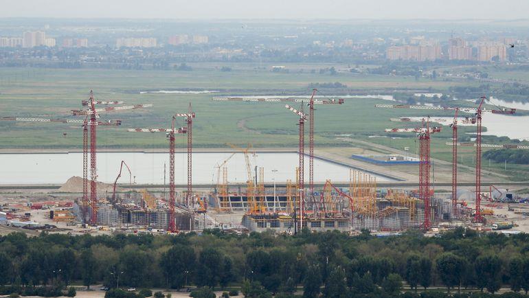 Вид на строительную площадку арены ЧМ-2018. Фото REUTERS