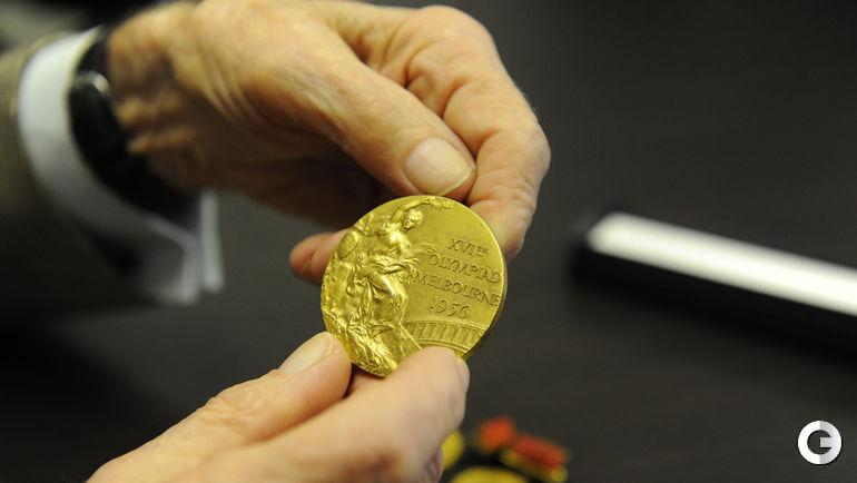 Золотая медаль Игоря НЕТТО за победу на Олимпиаде 1956 года.