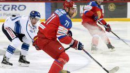 Сегодня. Хельсинки. Финляндия - Россия - 2:1. Капитан сборной России Илья КОВАЛЬЧУК.