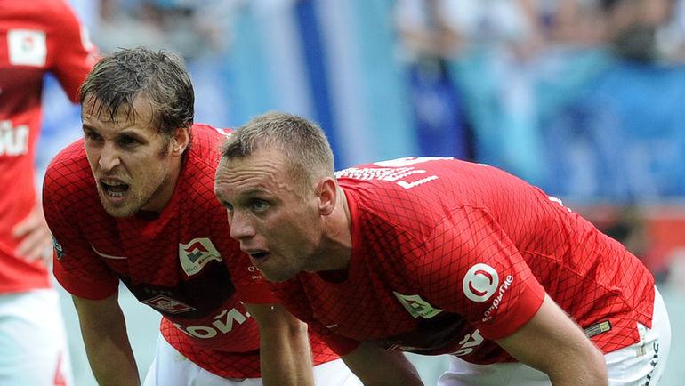 Дмитрий КОМБАРОВ и Денис ГЛУШАКОВ. Фото Никита УСПЕНСКИЙ, «СЭ»