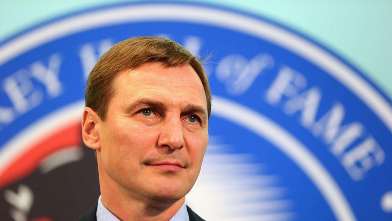 6 ноября. Сергей ФЕДОРОВ на пресс-конференции в Зале славы. Фото AFP