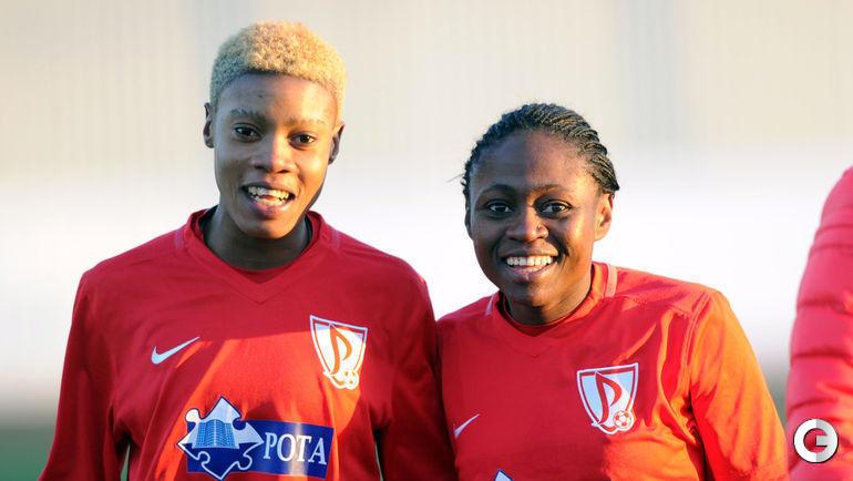 Инес Нрехи и Габриэль Онгене(Габи) - авторы двух забитых голов в матче.