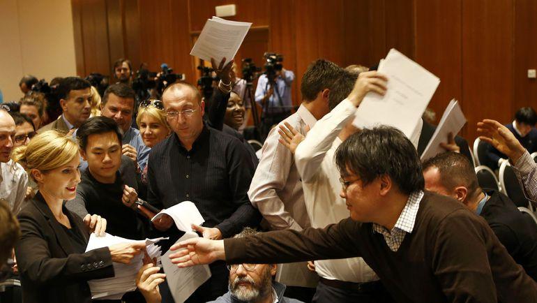 Сегодня. Женева. Доклад ВАДА - в массы. Фото Reuters