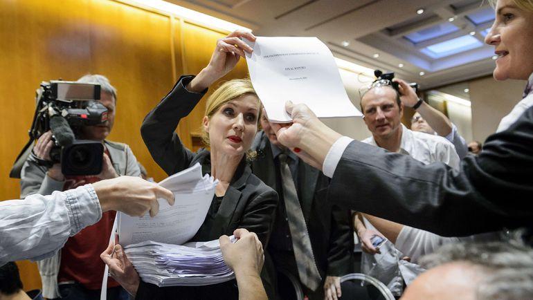 В понедельник комиссия Всемирного антидопингового агентства обнародовала доклад о результатах расследования об использовании допинга в российской легкой атлетике. Фото AFP
