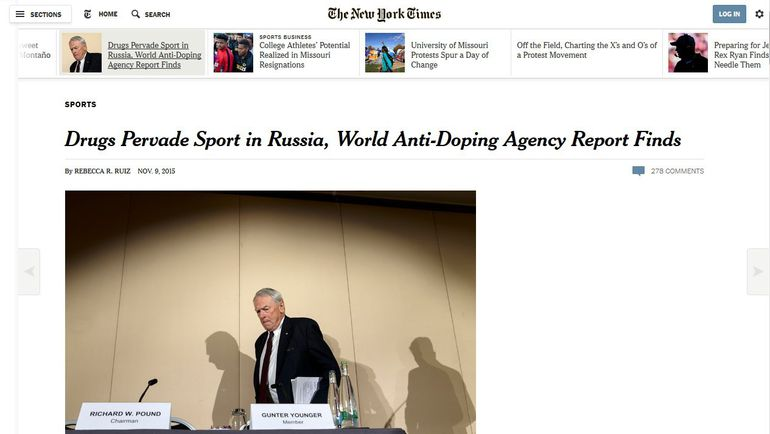 "The New York Times. Фото ""СЭ"""