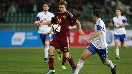 Сегодня. Краснодар. Россия - Фареры - 2:0. С мячом автор второго гола нападающий французского