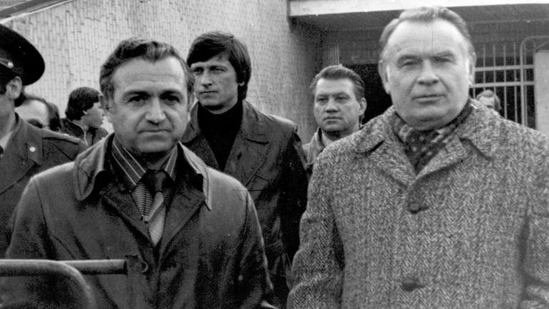 1982 год. Константин БЕСКОВ (справа), Никита СИМОНЯН (слева) и Виктор ПРОКОПЕНКО. Фото Алексей ВЕРБЕНКО