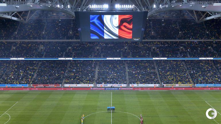 Перед матчем Швеция - Дания.