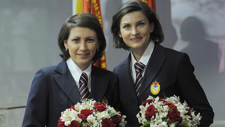 """Татьяна ЛЕБЕДЕВА (слева) и Анна ЧИЧЕРОВА. Фото Алексей ИВАНОВ, """"СЭ"""""""