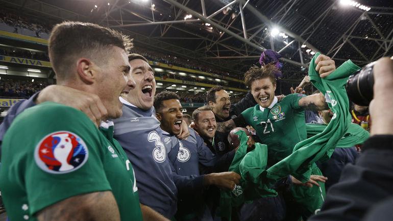 Ирландия – Босния и Герцеговина – 2:0. Футболисты Ирландии - на Euro-2016.