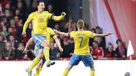 Вторник. Копенгаген. Дания – Швеция – 2:2. Златан ИБРАГИМОВИЧ едет на Euro-2016.